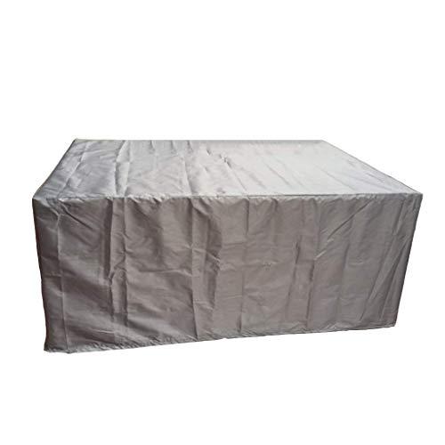 BOC Cubiertas para muebles de jardín, cubierta a prueba de polvo para muebles de exterior, cubierta proteBOCra impermeable de tela Oxford 420D para sofás/mesas y sillas, negro/plateado,Plata,308