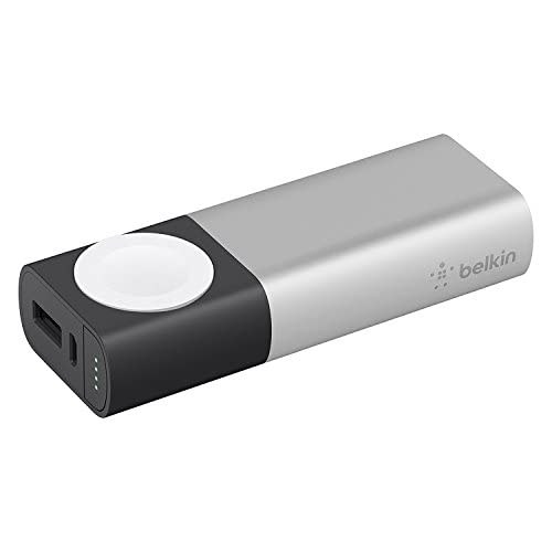 Belkin Valet Charger Batteria Esterna da 6700 mAh, Caricabatteria Certificato MFi, per iPhone 11, 11 Pro/Pro Max, XS/XS Max, XR, X, SE, Apple Watch Series 1, 2, 3, 4, 5