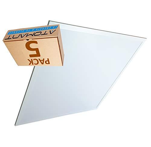 Lot 5x Panneau LED Slim 60x60 cm, 40w, Couleur Blanc froid (6500K), 3200 lumens. Driver incluse.