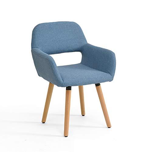 LJZslhei Stuhl Massivholz Stuhl Einfache Moderne Computer Stuhl Kreative Zurück Schreibtisch Stuhl Freizeit Stuhl Esszimmerstuhl Blau