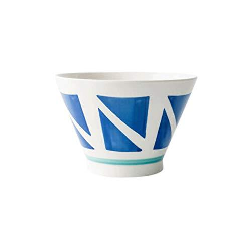 Hanpiyigw Bol, 17.8 * 12 cm Cuenco de fideos de cerámica de gran capacidad para el hogar, tazón de trompeta, tazón de sopa, tazón profundo, liviano y duradero 1248 ml, adecuado para lavavajillas y hor