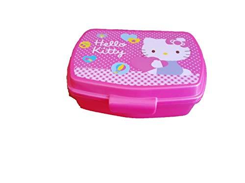ALMACENESADAN 2142; Sandwichera Rectangular Hello Kitty; Producto de plástico; Libre BPA; Dimensiones Interiores 16,5x11,5x5,5 Cm