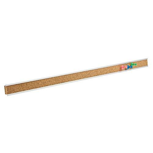 "Quartet Bulletin Bar Strip, Cork Board, 48"" x 1"", Classroom, Office, Cubicle, Aluminum Frame (2006)"