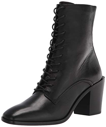 Frye Women's Georgia Lace Up Ankle Boot, Black, 8