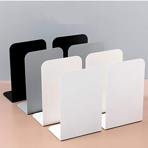IEEK Bookends,4 Pairs/8 Pieces Book Ends for Shelves,Bookends for Shelves,Metal Book Ends for Heavy Books,Book Shelf Holder Metal Bookend 4 Color Bookend Supports Book Stoppers