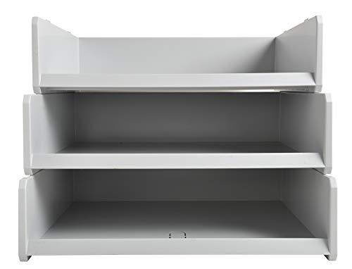 Exacompta - Réf. 13040D - 1 corbeille MULTITRI grand format - pour enveloppes, formulaires ou catalogues - dimensions 30x38x10 cm - couleur gris lumière