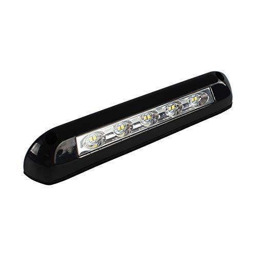 SSGLOVELIN 12V / 24V RV-LED-Markise-Veranda-licht wasserdichtes Wohnmobilkarawaner Innenwandlampen Lichtleiste RV Van Camper Anhänger Außenlampe (Color : Black)