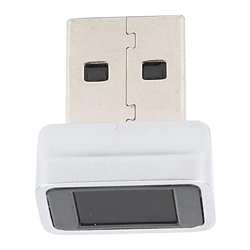 ASHATA Lecteur d'empreintes digitales USB Mot de Passe Gratuit Scanner d'empreintes digitales à 360 degrés Prise en Charge compacte Lecteur de clés à Plusieurs Doigts Cryptage d'identification