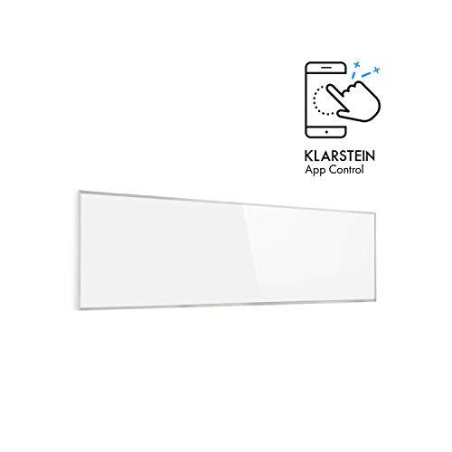 Klarstein Wonderwall - Smart Infrarotheizung, 30x100cm, 300W, Wochentimer, IP24, weiß