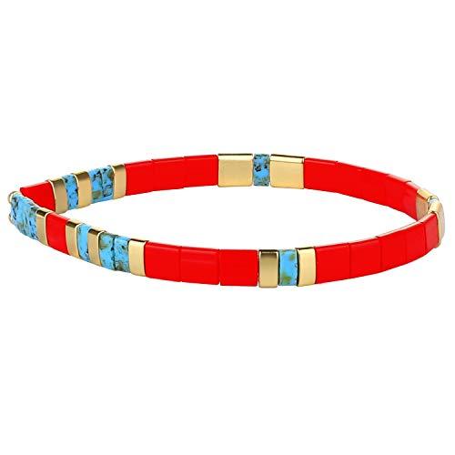 KANYEE Bracelets élastique pour Femme Bracelets D'amitié Bracelets Perlés Tila Bracelets Breloques Mode De Manchette pour Cadeaux d'anniversaire – 8J
