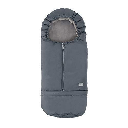 Nuvita 9845 Junior Carry On Universal Footmuff Fußsack 2-in-1 für Kinderwagen, Buggys, Fusssack Babyschale, Autositz - Wärmeisoliert, Wasserdicht und Winddicht 0-36 Monaten bis -10°C -Fusssack
