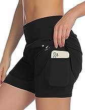 COOrun Womens Lounge Travel Shorts Workout Jogging Shorts Side Pockets with Reflective Design Sportwear Black XX-Large