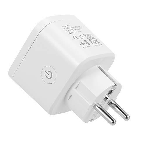 Ajcoflt Smart WiFi-Buchse EU Typ E Kabellose Fernbedienung Ladeadapter Smart Home-Steckdose über die Telefon-App Smart Timer Kompatibel mit Amazon Alexa und Google Home IFTTT Home Plug