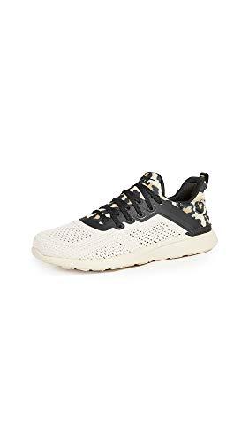 APL: Athletic Propulsion Labs Women's Techloom Tracer Sneakers, Parchment/Black/Leopard, 8.5 Medium US
