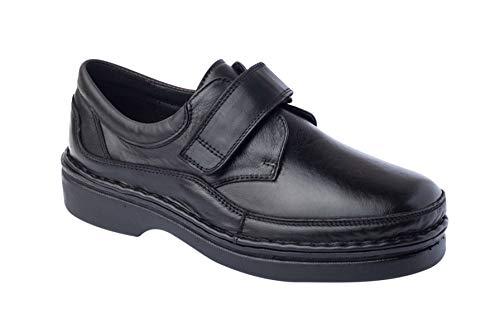 CALZAFARMA Mod.7116 - Zapato Clásico Cosido a Mano, Empeine Elástico (Licra) Resto 100% Piel, Ancho Especial Apto para Plantillas Ortopédicas, Plantillas de EVA Extraíbles Incluidas. (39)