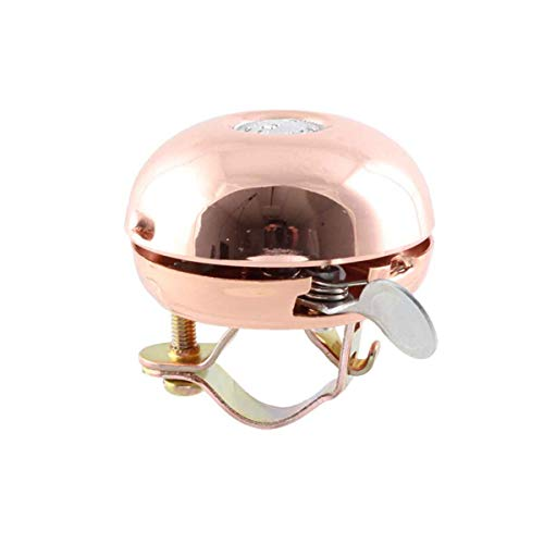 Crane Bike Bell, Copper, Riten Bicycle Bell, Rotary Action, Made in Japan for City Bikes, Cruisers, Road Bikes or MTB, Fits Handlebar diameters 22.2 to 26.0mm