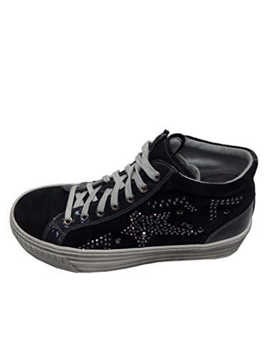 Converse CTAS Hi, Zapatillas de Deporte para Mujer, Multicolor (Black/Black/Silver 001), 37.5 EU (Varios)