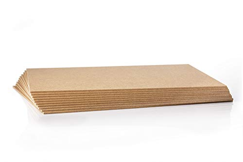 10 Stück MDF Platte - 2,5 mm - Holzzuschnitt in 60 X 60 cm - 600 X 600 mm