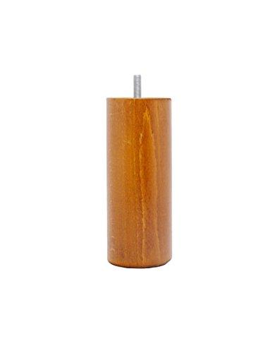 La Fabbrica di Piedi am20170018Gioco di 4Piedi per Letto cilindri Legno ciliegio 15x 6x 6cm