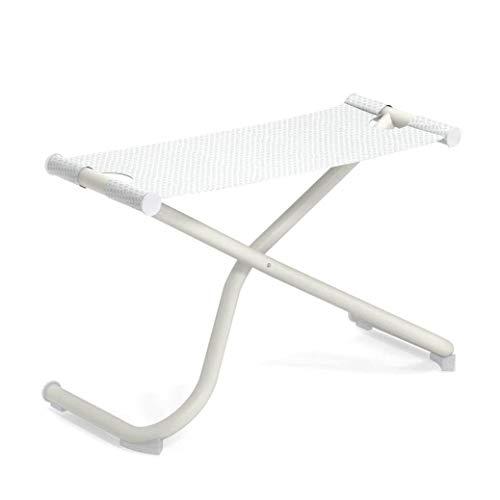 Snooze Garten Fußhocker, weiß weiß Sitzfläche EMU-Tex weiß LxBxH 72x32x43cm Gestell Stahl weiß klappbar
