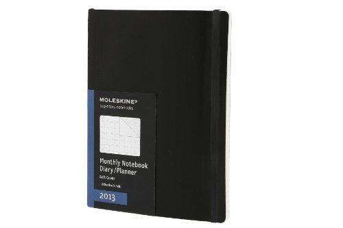 Moleskine Extra Large Monthly Notebook 12 Month 2013: Tischkalender. Ganzer Monat auf zwei Seiten (Moleskine Diaries) (Moleskine Legendary Notebooks (Calendars))