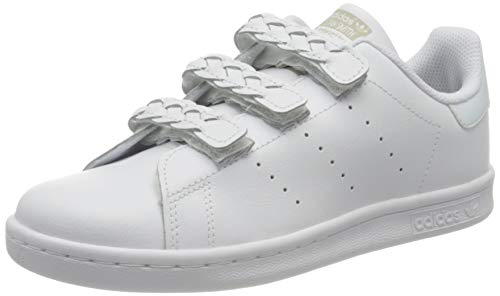 Adidas Stan Smith S, Zapatillas de Deporte, Gris (FTWR White/Grey One F17), 32 EU