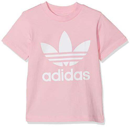 adidas Trefoil tee T-Shirt, Unisex niños, Light Pink/White, 912M