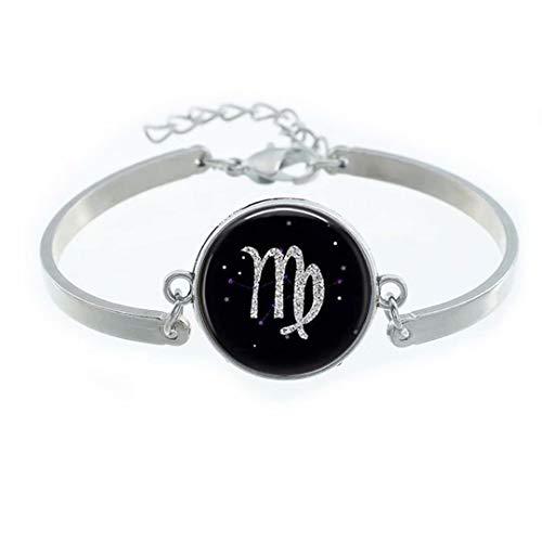 Dandelion Virgo Astronomical Symbol Illustration Bracelet,Popular Glass Bracelet,Stylish Bracelet Gift
