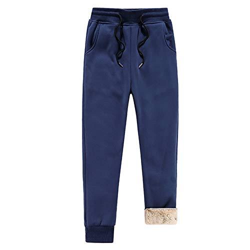 Watkings Mens Athletic Pants, fleece gevoerde dikke fitness trainingsbroek, casual losse warme jogger voor de winter, met tas (M ~ 4XL)