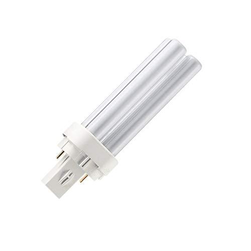 Philips PL-C 13W/840alto doble tubo 2pin Base bombilla fluorescente compacta, temperatura de color 4000K, media vida: 10000horas, salida de lúmenes (luz): 900(Pack de 2)