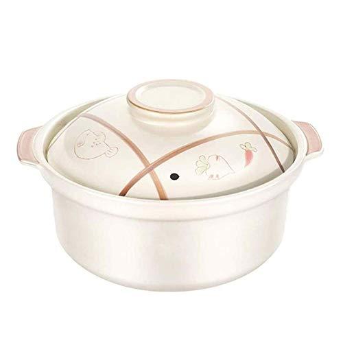 DJDLLZY Casserole de cerámica Home Gas Casserole Casserole Utensilios de Cocina de Alta Temperatura Salud Pequeña cazuela Sopa