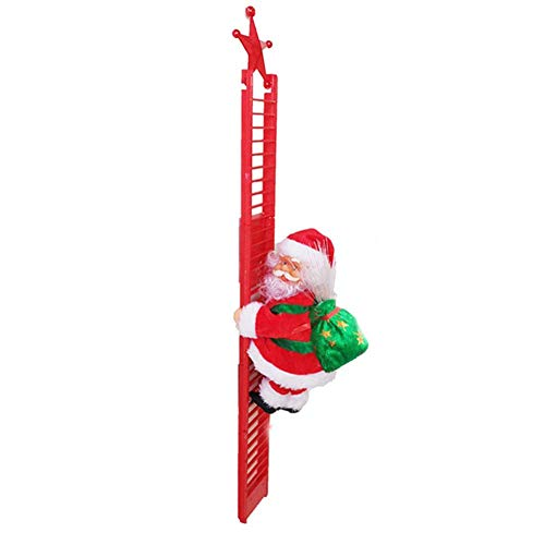 Santa Claus Climbing Ladder,Christmas Electric Climbing Santa Claus, Christmas Decoration Plush Doll Toy,for Christmas,New Year Party Decoration