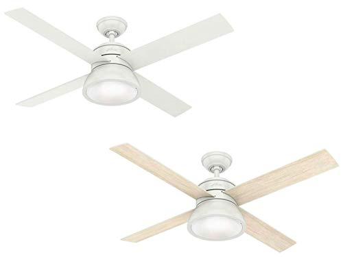 Hunter 132 cm | 52 pouces Loki Ventilateur de Plafond Blanc avec Système d'Éclairage et Télécommande, 50423
