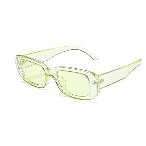 Gafas de Sol cuadradas Mujer de Lujo de Lujo Viaje pequeño rectángulo Gafas de Sol Mujer Vintage Retro Oculos Lunette de Soleil Gafas de Sol para Mujer (Lenses Color : Green)