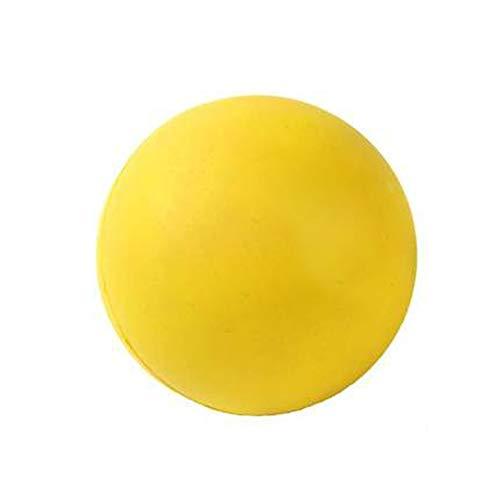 XXZY Hundeball Ball Spielzeug Hund Kleine Zähne Wurfball Hüpfender Haustiere Hundespielzeug Bissbeständiger Massiver Elastischer Ball Gummiball Haustierspielzeugball.Gelb.