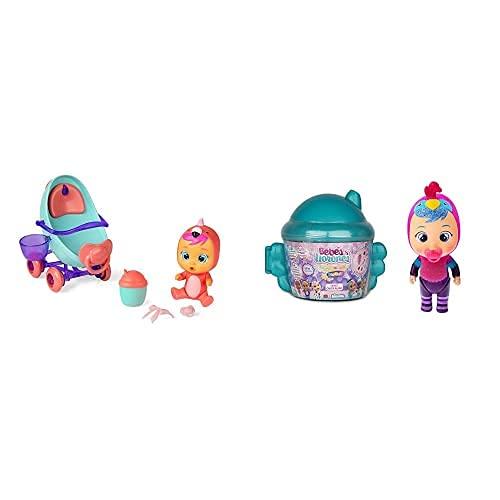 IMC ToysBebés Llorones Lágrimas Mágicas, Coche De Fancy (97957) + Fantasy Casita Alada Mini Muñecas Sopresas Coleccionables con Purpurina Modelo Sorpresa