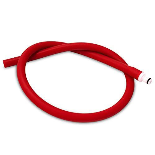 LeLuv Silicone Hose and Male Fitting for Vacuum Pumps Premium Non-Collapsible Slippery 1/4 inch Inside Diameter x 24 inch Length Ruby Red