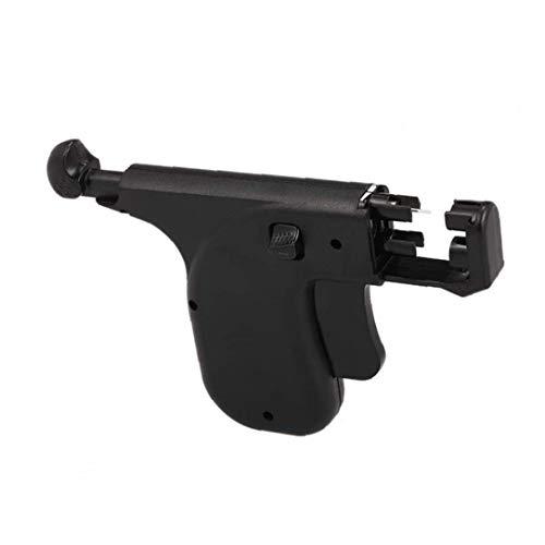 Oreille plastique Piercing Gun Kit oreille Pierce Gun Set de sécurité Ear Pierce Gun avec 98 paires d'oreille Goujons Boucles d'oreilles Outil Noir 1set