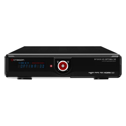 VCM Octagon SF 2028 HD Optima 3D Full HD Twin Sat Receiver, schwarz