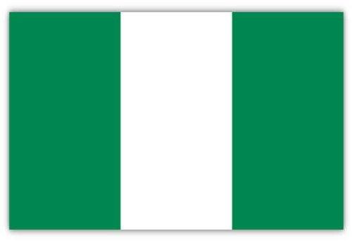 Fahne Flagge Hissfahne mit 2 Metallösen zur Befestigung und zum Hissen - Größe 90 x 150 cm Nationalfahne WM EM Garten Deko Gastronomie Weltmeisterschaft Europameisterschaft national (Nigeria)