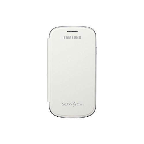 Samsung Original schützende Display-Klappe / Flip-Cover EFC-1M7FWEGSTD (kompatibel mit Galaxy S3 mini) in white