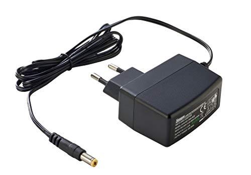 PremiumCord Universal Netzteil 230V/ 9V/ 1A DC, Netzadapter AC/DC, Stromadapter und Stromkabel für Router und weitere 9V-Geräte, Ausgangsstecker 5,5mm/ 2,1mm