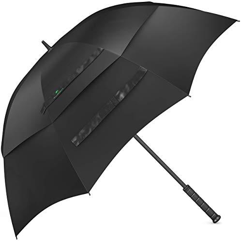 Procella Regenschirm Sturmfest Groß Schirm - Automatisches Öffnen Golfschirm 157 cm - Hochwertiger Stylischer Stockschirm für Herren und Damen - Belüftet Doppelüberdachung - Winddicht Wasserdicht