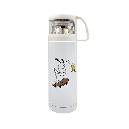 Lustiger Thermobecher aus Edelstahl, vakuumisoliert, Snoopy und Woodstock, 350 ml