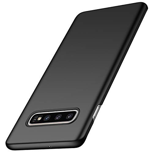 anccer Compatible for Samsung Galaxy S10 Plus Case [Colorful Series] [Ultra Thin Fit] Hard Slim Cover for Samsung Galaxy S10+ (Black)