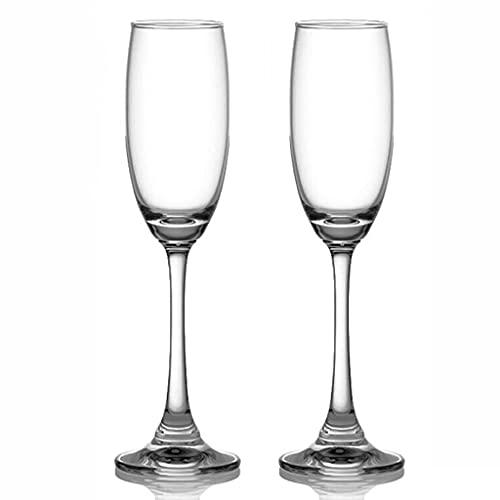 MQH Copas de Vino Copa de Vino, Vidrio cristalino de 220 ml, Copa Grande de Vino de Tallo Largo para la Boda del Vino Rojo y Blanco, Aniversario, Navidad Copas para Vino (Color : Set of 2)