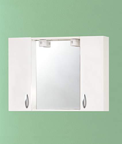 MOBILI SAVINI DUE Specchiera Arredo Bagno Bianca Cm77x15,5x57h Art.960