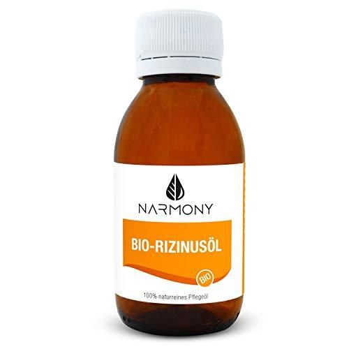 Bio-Rizinusöl - 100{d4b48f4e2a3d07a9ce65e5eca8c7148b545c8a2c537c03dee9e3a19b850dfb93} naturrein und kaltgepresst - 100ml - vegan - kontrolliert biologischer Anbau - für Gesicht, Haut, Haar und Körperpflege | Biorizinusöl in Glasflasche
