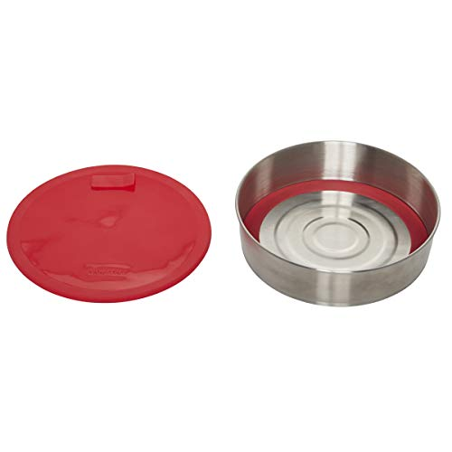 Instant Pot Lid and Removable Official Round Cook/Bake Pan with Lid & Removable Base, 7-inch, 32 ounce capacity, Red