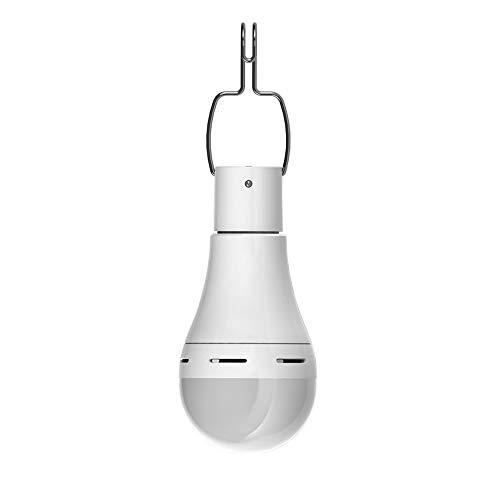 Lampadina a LED ad energia solare, Konesky lampada a sospensione portatile Lanterna a tenda ricaricabile con timer Illuminazione a distanza per l'escursione di campeggio all'aperto Emergenza